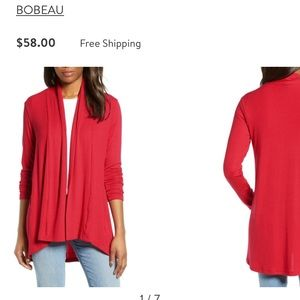 Bobeau  | Red cardigan